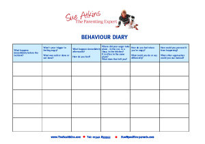 Behaviour-Diary