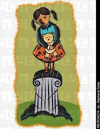 child on a pedestal