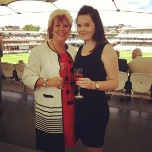 Molly and me at Lords