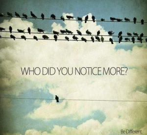 who do you notice more