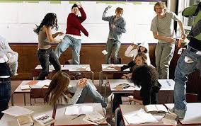 naughty kids in school